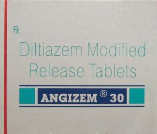 Angizem 30 Diltiazem Tablets