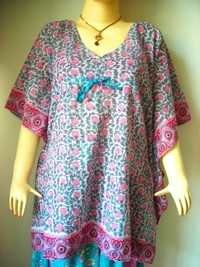 PINKY WHITE COTTON KAFTAN