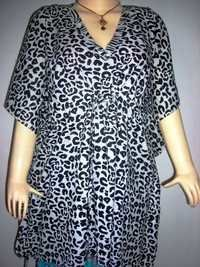 BLACK&WHITE COTTON KAFTAN