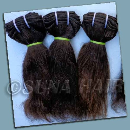 Top quality mangolian remy body wavy weft virgin hair ex