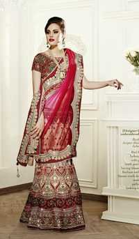 Ready to Wear designer Hand Worked Lahenga Saree