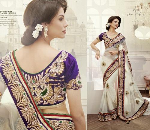 Trendy Diva designer worked saree