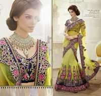 Heavy Flora Patch Worked lahenga choli