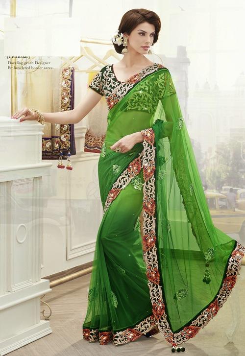 Eva Green designer worked saree