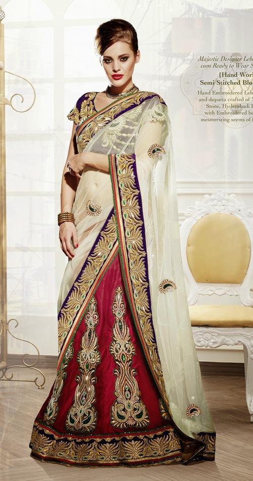 Majestic Designer Lehenga cum Ready to Wear Saree