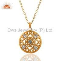Filigree Gold Fashion Chain Pendant