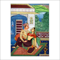 Mughal Love Painting