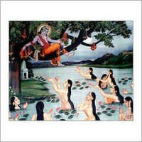 Krishna and Gopies Painting