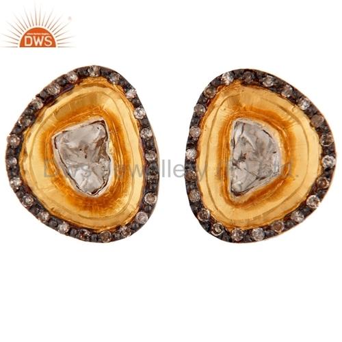 14k Gold Diamond Stud Earrings Jewelry