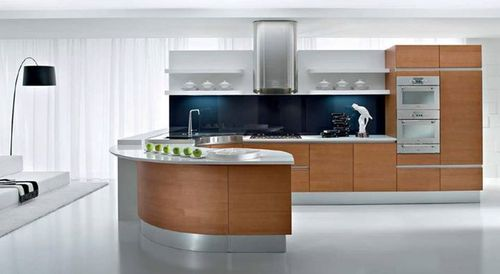 Curved Modular Kitchen