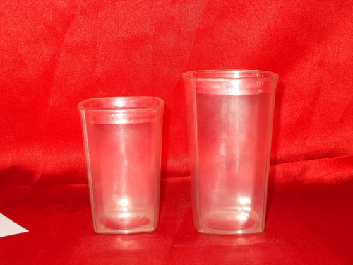 Unbreakable Polycarbonate Square200-300 ml Glasses