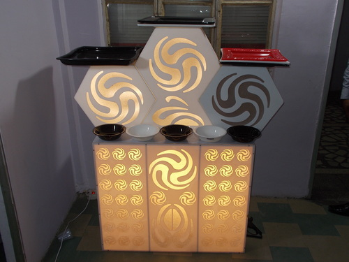 Acrylic Display Catering Counter