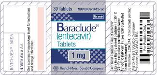 Baraclude 1mg Entecavir Tablets