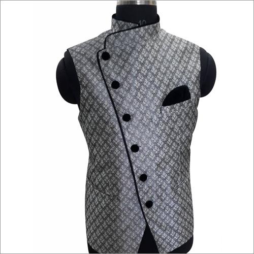 Black Silk Velvet Waist Coat