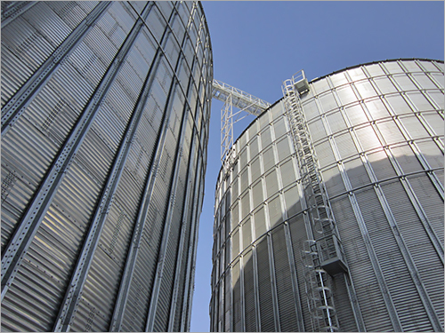Commercial Flat Bottom Silo