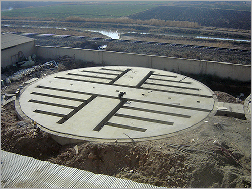 Commercial Silo Concrete Foundation