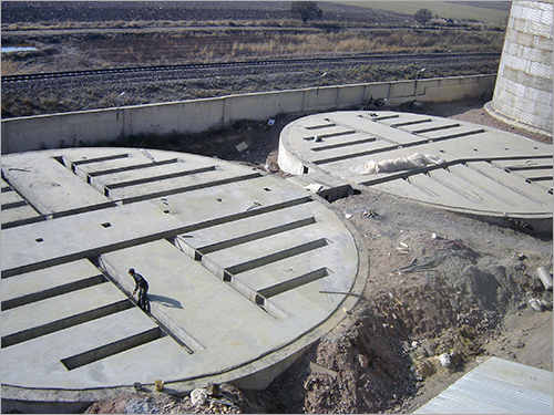 Industrial Silo Concrete Foundation