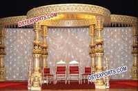 Wedding Ganesha Fiber Mandap