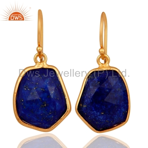 Lapis Lazuli Gold Plated Sterling Silver Earrings