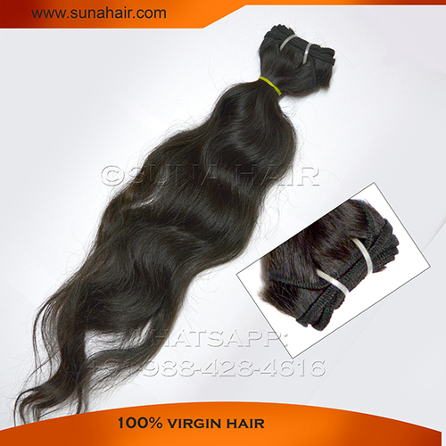 Indian unprocessed body wavy remy hair extension