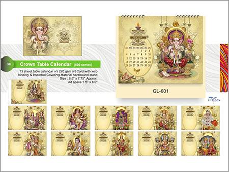 Crown Table Calendar