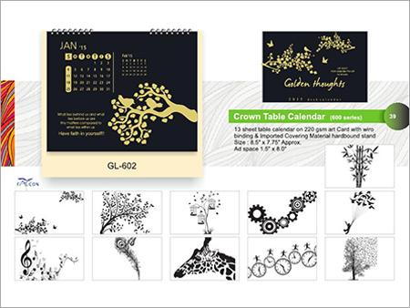 Crown Printed Calendar