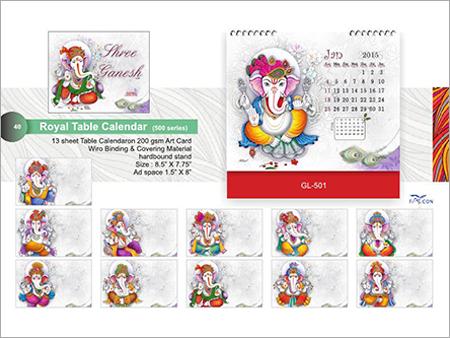 Royal Table Calendar