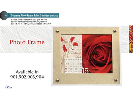 Supreme Table Calendar Photo Frame