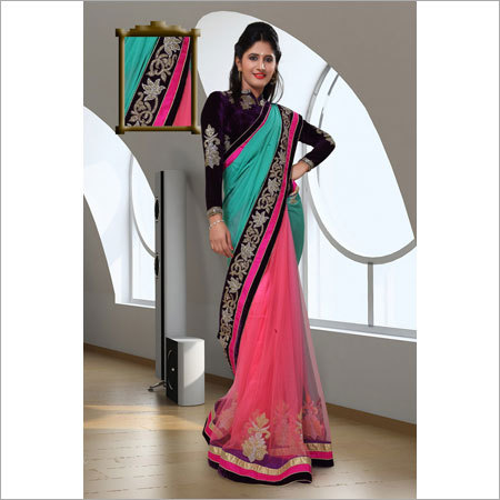 Embroidered Hand Work Sarees