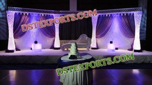 LATEST DESIGN WEDDING CRYSTAL STAGE 6889