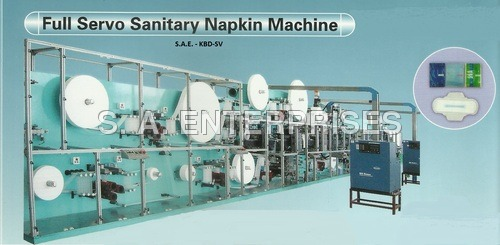 Full Servo Sanitary Napkin Machine