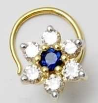 Solid gold diamond nose pin exporter