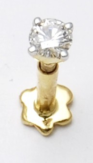 daily wear single diamond prong setting nose pin