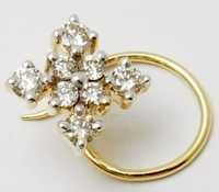 fancy design diamond gold nose pin exporter