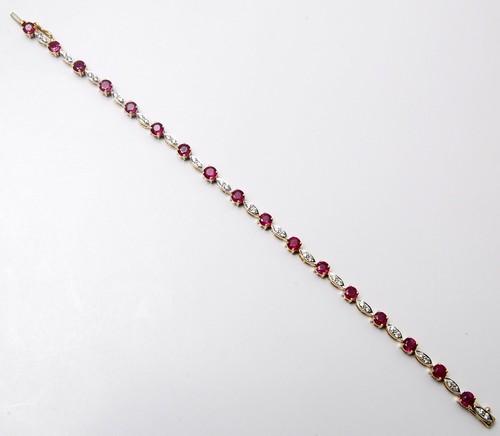 prong setting gemstone shiny white cz bracelet
