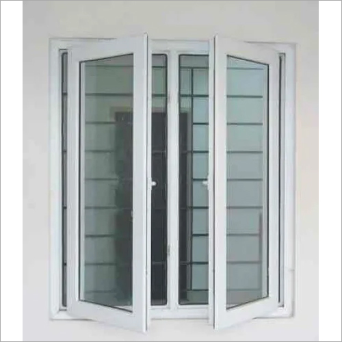 UPVC Casement Windows With Mesh & Grill