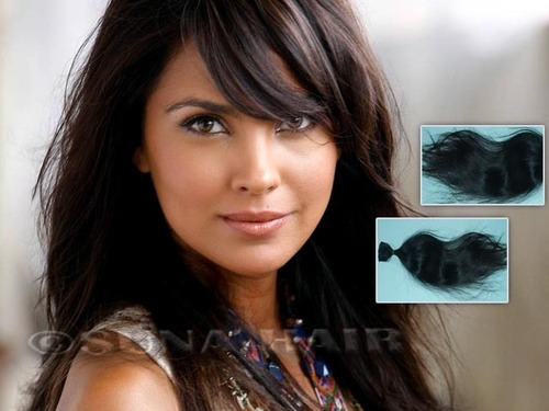 Weft top quality natural silky straight remy virgin human hair