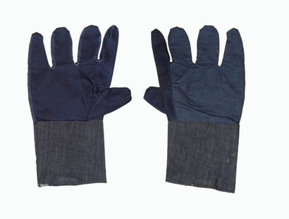 Blue And Grey Jeans Hand Gloves