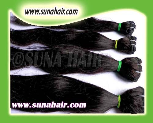 New coming good quality silky straight weft brazilian hair ex