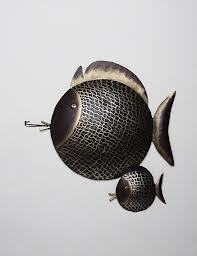 Designer Metal Fish Wall Hanging