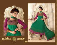 Designer  Green Churidar Suits