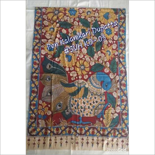 Pen Kalamkari Dupatta
