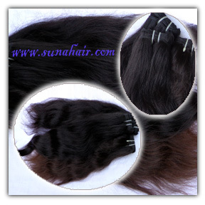 Remy weft natural black body wavy hair weave human hair ex