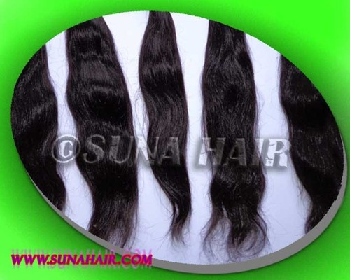 High quality machine weft remy deep body wavy human hair in stock