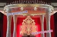 Wedding Golden Jali Mandap Set