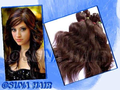 Hot Sale brazilian machine weft remy deep body wavy virgin Human Hair Ex