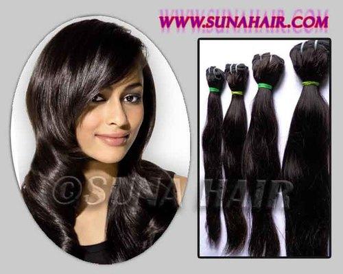 Mangolian deep body wavy machine weft natural color virgin remy hair ex