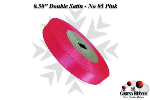 Double Satin Ribbons - Pink
