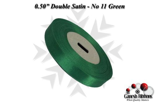 Double Satin Ribbons - Green