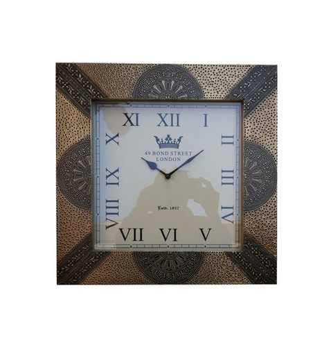 Antique Brass Fitted Wooden Wall Clock
